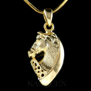 Western HORSE Equestrian Cowgirl Rider RODEO Stallion Gold Tone Necklace Jewelry