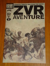 ZOMBIES VS ROBOTS AVENTURE #3 RI COVER 2010 IDW ASHLEY WOOD