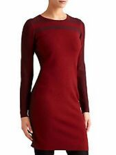 Athleta NWT Boreal Sweater Dress XS MSRP $118 red colorblock long sleeve