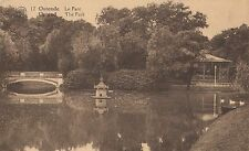 VINTAGE POSTCARD OF THE PARK OSTEND BELGIUM UNPOSTED