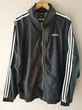 Vintage Adidas Spellout Windbreaker Nylon Jacket With Hood Mens Size Large