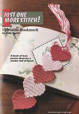 "Crochet Pattern ONLY - Heart Bookmark - 1-1/2""x6-1/2"" - Size 10 cotton"