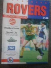 Blackburn Rovers v Norwich City, 1992-93, Coca-Cola Cup
