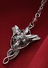 New Lord of The Rings Arwen's Necklace Evenstar Pendant Crystal Silver Chain