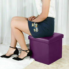 Storage Folding Ottoman Seat Stool Footstool Toy Living Room Bedroom Box