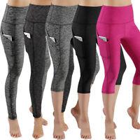 Womens Gym Workout Leggings Fitness Yoga Pants w/Pocket High Waist Dry-Fit X180