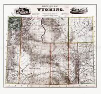 MAP ANTIQUE 1883 HOLT WYOMING STATE USA LARGE REPRODUCTION POSTER PRINT PAM1960