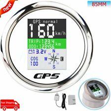 85mm Marine Digital Speedometer COG Trip Voltmeter W/TFT-LCD Display&GPS Antenna