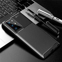 COVER per Samsung Galaxy Note20 / Ultra 5G CUSTODIA CARBONIO + VETRO TEMPERATO