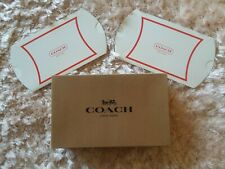 """3 Coach boxes 1 Brown Paper Gift Box 10"""" x 6"""" x 2.5"""" for Wallet & 2 Jewelry"""