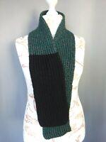 écharpe en laine crochet grosse maille fait mains Vintage 130X15 CM