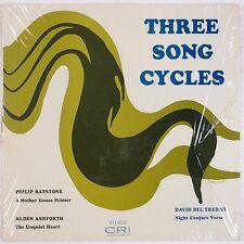 DAVID DEL TREDICI: Three Song Cycles CRI Vinyl LP Rare