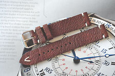 Ocean1 Band HANDMADE 16mm Brown Aged Leather Watch Strap HBR16R