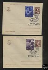 Argentina stamps on cards