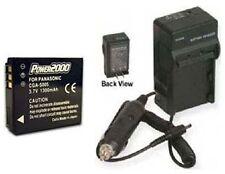 Battery + Charger for Panasonic DMC-FX12S DMC-FX50K DMC-FX50S DMCFX150 DMCFX150S