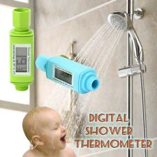 Waterproof Digital Shower Head Water Thermometer with Alarm Alert Baby LED Light
