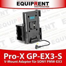 Pro-X GP-EX3-S V-Mount Akku Adapter für Sony PMW EX3 Camcorder (EQ973)