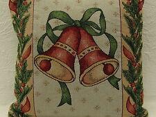 Kissenhülle,ca.40cmx40cm,quadratisch,mit Reißverschluß,Gobeline,Glocken