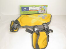 Top Paw Neoprene Reflective Dog Life Jacket Vest Yellow Med 30 - 55 lbs