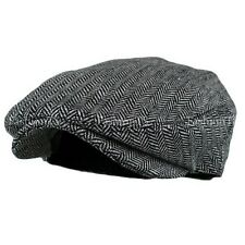 Men s Herringbone Wool Blend Tweed Newsboy Ivy Gatsby Cabbie Driving Golf Hat  Gray Large xlarge 6d892cea8a9b