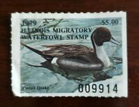 1979 Illinois Migratory Waterfowl Duck Stamp $5 Pintail Drake Used Unsigned