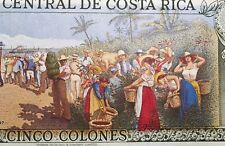 SUPERBE BILLET DE 5 COLONES COSTA RICA 1990 (BILL 36) TRÈS COLORÉ