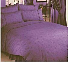 King Size Duvet Cover Set Lauren Purple Lilac Marble Effect Luxury Polycotton