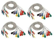 Snap Lead Button Cable Holter Cable set of 5 Electrode