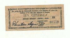 Philippines Emergency Currency Mindanao - 10 Centavos - # 2221210