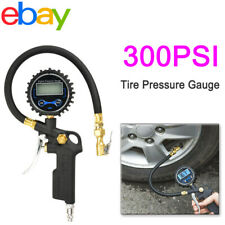 LCD Digital Tire Inflator With Air Pressure Meter Tester Tyre Gauge For Car Bike