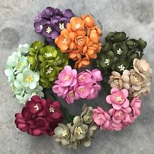 New! 100 Mixed Cherry Blossom Handmade Mulberry Paper Flowers, Wedding