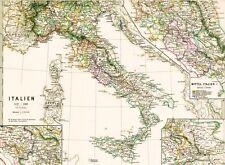 Vera vecchia CARTINA ITALIA MAPPA ITALIA 1037-1302 S. Benedicti Spoleto 1879