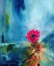 Hedgehog Cactus by James Dick   Impressionist   Oil Painting   Wildflowers