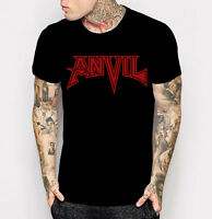 Anvil Logo T-shirt Canadian Heavy Metal Band Black with Red Tee Shirt M - 3XL