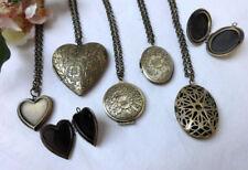 Modeschmuck-Halsketten & -Anhänger im Medaillon-Stil mit Herz-ohne Stein