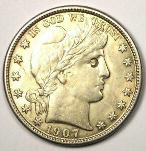 1907-O Barber Half Dollar 50C - Choice AU Details - Excellent Luster & Detail