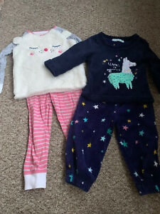 Girls pyjamas Bundle 2 Sets Age 2-3