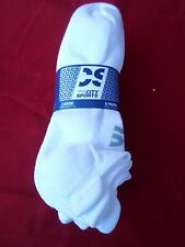 6 Pair City Sport Low Profile Running White Microfiber Nylon Men Socks 8-12