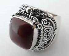 Herrenring brauner Edelstein  Bali 925 Silber Vintage 90 silver ring