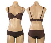 Brown Padded Bra & Panty Set Size 34B 34C 36B 36C 38B 38C 40C & M L XL NWT