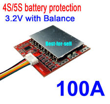 4S 12.8V LifePO4 Lithium Cells 100A Battery Protection BMS PCM Board w/ Balance