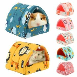 Comfortable Hamster House Small Animal Sleeping Bed Guinea Pig Nest Warm Mat