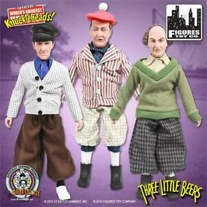 Set of 3 THREE STOOGES THREE LITTLE BEERS 8 inch FTC retro mego action figures