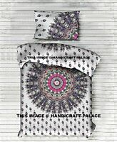 Indian Mandala Duvet Cover Reversible Doona Cover Cotton Boho Quilt Pillow Cover
