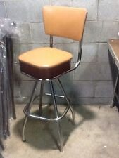 Vintage Masco Retro Mid Century 360 Seat Stool - Chrome / Vinyl - Very Good