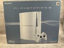 PS3 Playstation 3 Ceramic White 40GB Complete In Box Japan Import