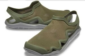 Men's CROCS Swiftwater Wave MESH Water Shoes Sandals Black  Blue Brown Green