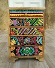 Hand Painted Chest of Drawers,African Style,Fair Trade,5 Drawer,Made in India