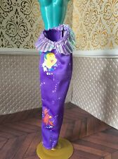Little Mermaid Purple Fin Ariel Barbie Doll Disney Princess Dress Mattel