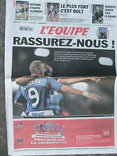 L'Equipe du 6/9/2008 - Foot : les Bleus à Vienne - Bayonne - Bolt - Djokovic